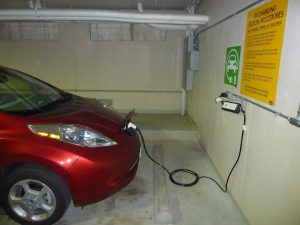 electric car charging parkin